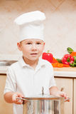 Little boy on kitchen Royalty Free Stock Photo