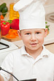Little boy on kitchen Royalty Free Stock Photos