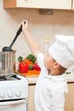 Little boy on kitchen Royalty Free Stock Photos