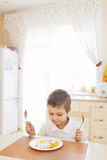 Little boy in the kitchen Royalty Free Stock Images
