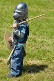 Little Boy kleedde zich als Ridder Stock Afbeelding