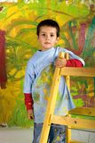 Little boy on ladder Stock Image