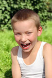 Little Boy Laughing Stock Images