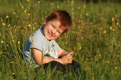 Little boy laughing Royalty Free Stock Photography