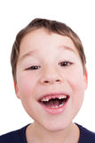 Little boy laughs Royalty Free Stock Photography