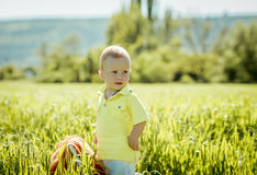 Little boy on the lawn, Royalty Free Stock Photo