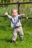 Little boy lerning to go Royalty Free Stock Photos