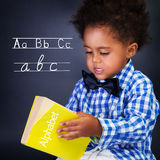 Little boy on lesson Royalty Free Stock Images