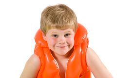 Little boy in life vest Royalty Free Stock Photo