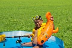 Little boy in a lifejacket Royalty Free Stock Photo