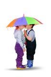 Little boy and little girl Stock Photos
