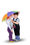 Little boy and little girl Stock Photography