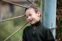 Little boy at lock door Royalty Free Stock Photos