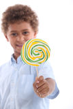 Little boy with lollipop Royalty Free Stock Photo