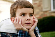 Little boy with long eyelashes Royalty Free Stock Image