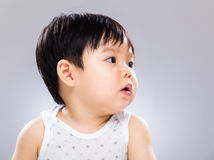 Little boy looking another side Royalty Free Stock Photography