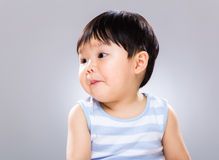 Little boy looking another side Royalty Free Stock Image