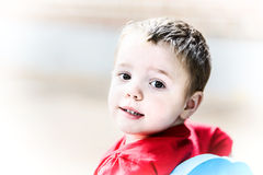 Little boy looking back Royalty Free Stock Images