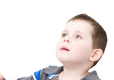 Little boy looking Royalty Free Stock Images
