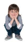 Little boy looks aside Stock Image