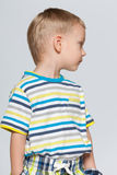 Little boy looks back Stock Image