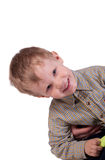 The little boy looks curiously Royalty Free Stock Images