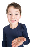 Little boy with lost milk teeth Stock Photography
