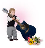 Little boy in love Stock Photo