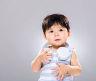 Little boy love music Royalty Free Stock Images