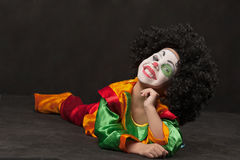 Little boy, make-up of clown, african Royalty Free Stock Photo