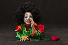 Little boy, make-up of clown, african Royalty Free Stock Photos