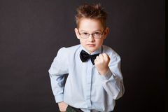 Little boy making angry face Royalty Free Stock Photo