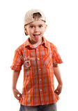 Little boy making faces Royalty Free Stock Image