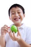 Little Boy Maluje Wielkanocnego jajko Zdjęcia Royalty Free
