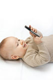 Little boy with mobile phone Stock Photo