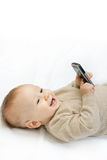 Little boy with mobile phone Royalty Free Stock Photo