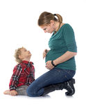 Little boy and mother Stock Image