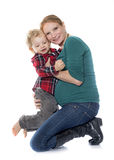 Little boy and mother Stock Photography