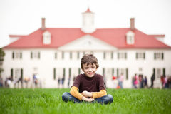 Little boy at Mount Vernon Royalty Free Stock Photos