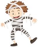 Little boy in mummy costume Stock Image