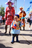 Little Boy At Nadaam. A little boy in a traditional mongolian costume at the Nadaam festival in Ulan Bator Royalty Free Stock Photo