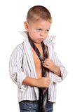 Little boy necktie Stock Photography