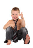 Little boy necktie Stock Photo