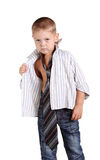 Little boy necktie Royalty Free Stock Photo