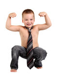 Little boy necktie Royalty Free Stock Image