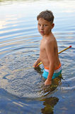 Little boy with Nets Stock Images