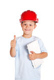 Little boy with note  Stock Photography