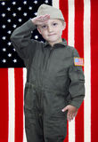 Little boy officer Stock Images