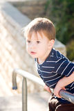 Little Boy On The Fence Stock Photos
