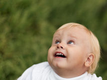 Little Boy  is Opened for Happiness Stock Photography